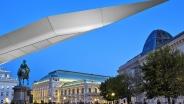 Венская государственная опера. Вид от галереи Альбертина