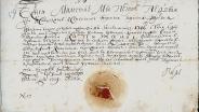 Патент на чин капитана морского флота_выданный Якобу Шапизо_14 июля 1719.
