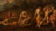 Аньоло Бронзино. Состязание Аполлона с Марсием. Между 1531 и 1532 годами. Картина до реставрации.