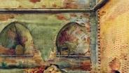 А Б  Карпова-Лебединская. Петропавловская крепость.1964. Бумага акварель.