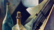 Натан Альтман. Натюрморт. Цветовые объемы и плоскости. 1918. Холст, масло, гипсовая крошка / 59,5 × 43.