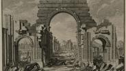Иоганн Себастьян Мюллер (1715–1792) По рисунку Дж.-Б. Борры Вид арки с восточной стороны Иллюстрация из книги Р. Вуда «Руины Пальмиры, иначе Тедмора, в пустыне» 1753 г. Бумага, гравюра офортом