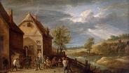 Крестьяне, играющие в шары. Конец 1640-х гг. Давид Тенирс Младший. Фландрия. Холст, масло.