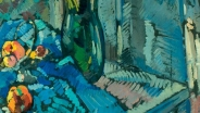 К.А. Коровин. Цветы и фрукты. 1919. Картон, масло.61,5х52. Собрание семьи Палеевых, Санкт-Петербург. Ранее_ собрание И.И. Палеева, Ленингр.