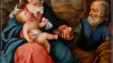 ПЛАСТ «ОТДЫХ НА ПУТИ В ЕГИПЕТ» 1842 По живописному оригиналу Б. Веронезе (1530-е) Исполнитель росписи Я. Амельчинков.
