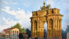 Триумфальные ворота у Нарвской заставы.