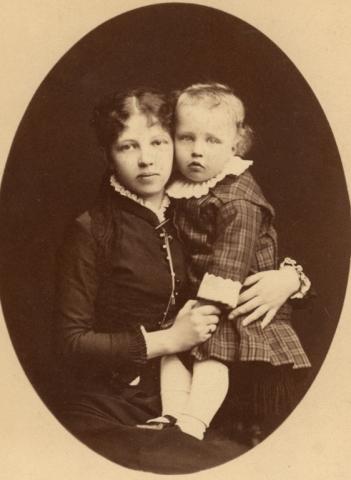 Александр Блок и его мать, Александра Андреевна Кублицкая-Пиоттух