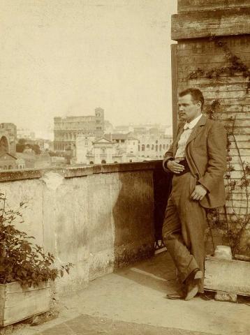 М.И. Ростовцев в Риме Фотография. 1895