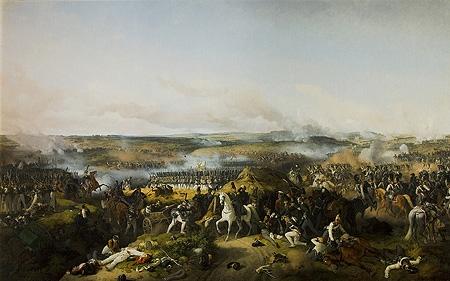 Бородинское сражение 26 августа (7 сентября) 1812 г. 1843 г. Петер фон Хесс. Холст, масло.