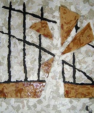 Светлана Цвиркунова. Пальма. 2012, холст, смешанная техника, 60х50.